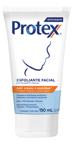 Esfoliante Facial Protex® Anti cravos e espinhas